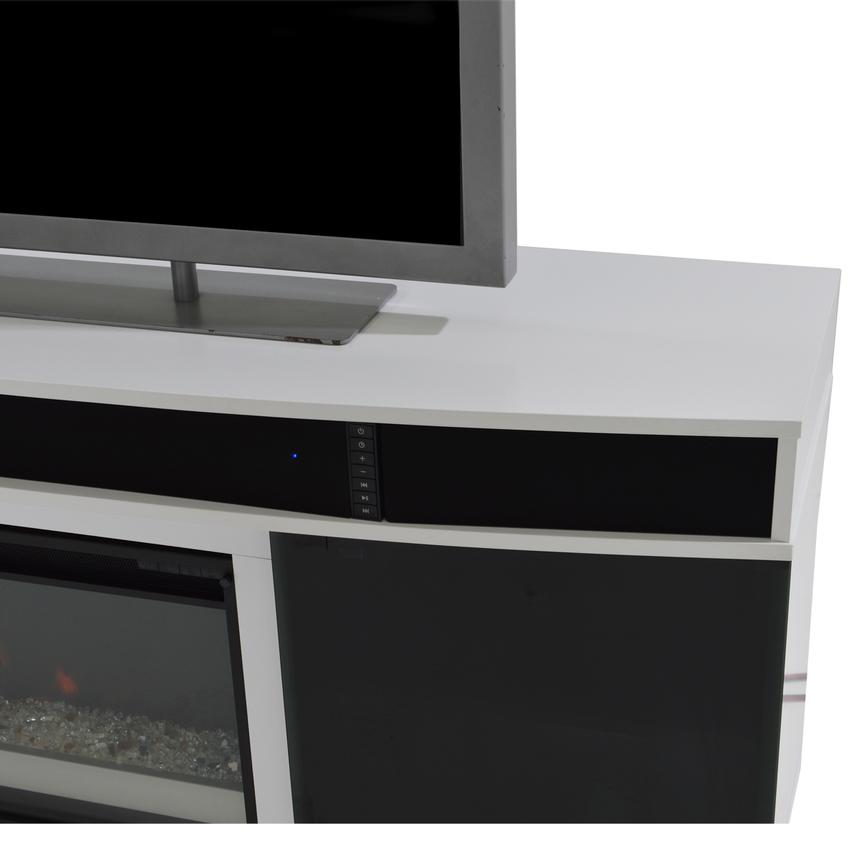 Enterprise White Wall Unit w/Speakers  alternate image, 6 of 13 images.