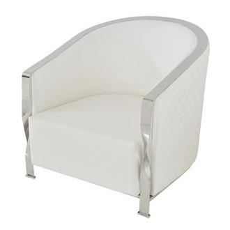Maxi White Accent Chair