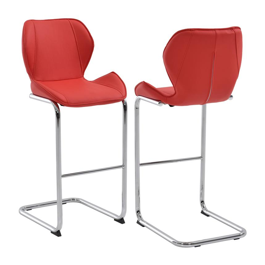 Latika Red Bar Stool Main Image 1 Of 5 Images