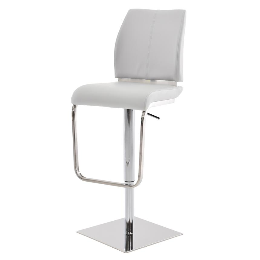 Maday White Adjustable Stool  alternate image, 2 of 5 images.