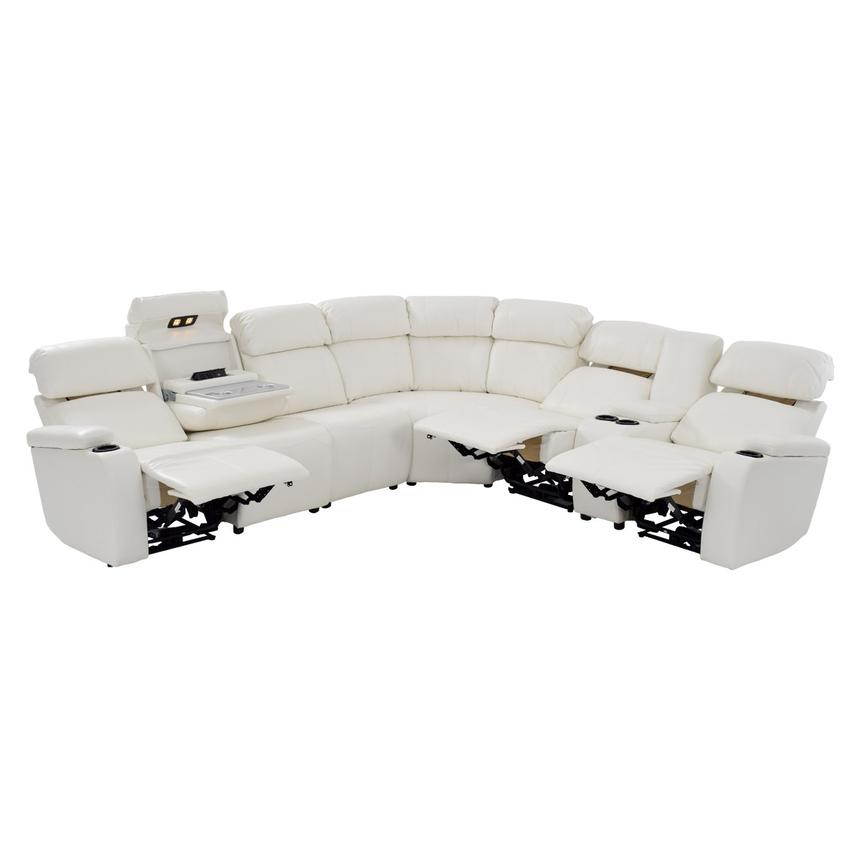 Magnetron White Power Motion Sofa w/Right & Left Recliners  alternate image, 2 of 9 images.