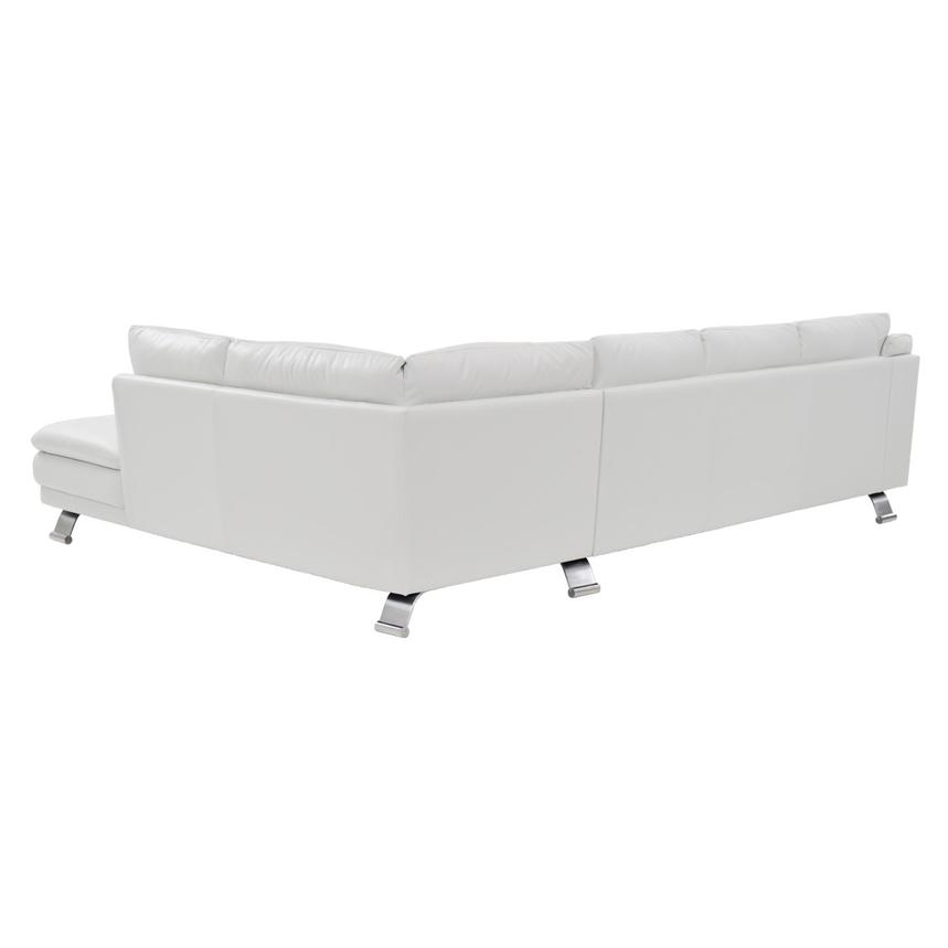 Rio White Leather Sofa w/Right Chaise  alternate image, 2 of 7 images.