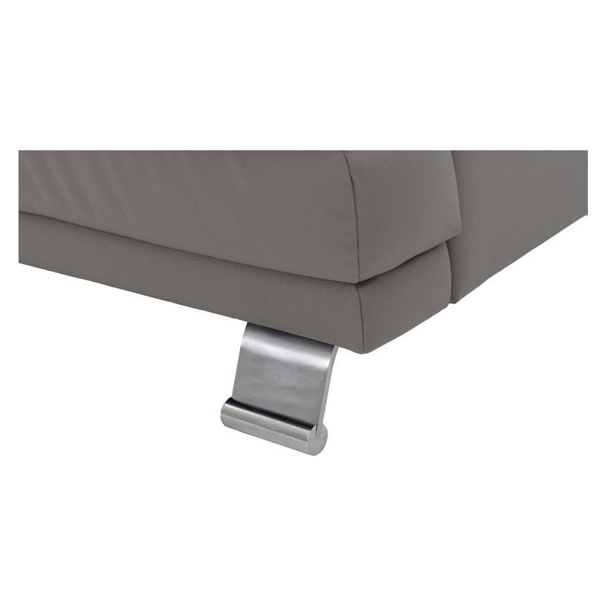 Sensational Rio Light Gray Leather Corner Sofa W Right Chaise Theyellowbook Wood Chair Design Ideas Theyellowbookinfo