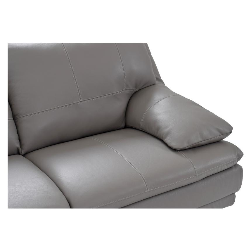 Rio Light Gray Leather Corner Sofa w/Left Chaise  alternate image, 3 of 7 images.