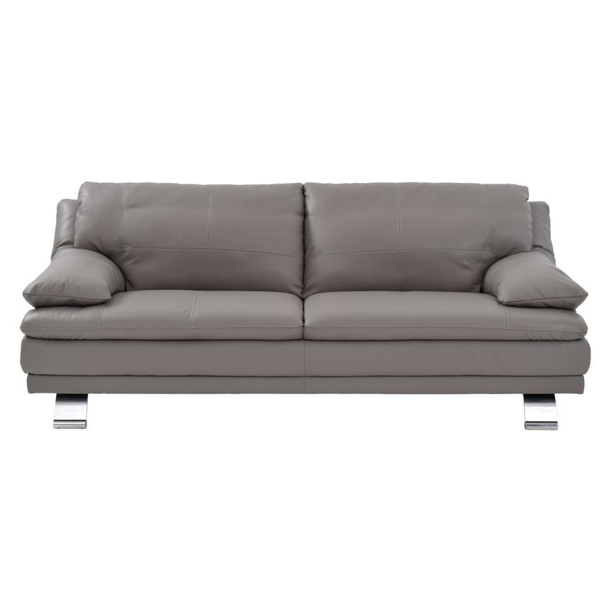 Rio Light Gray Leather Sofa Alternate Image 2 Of 7 Images
