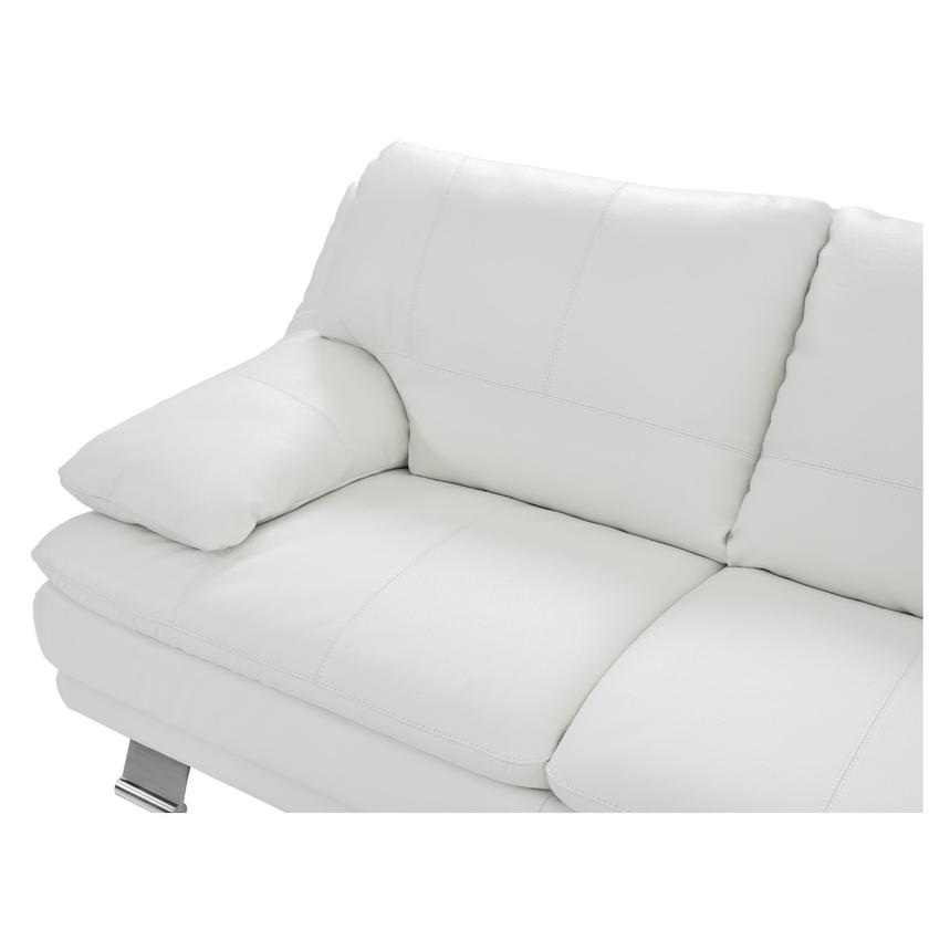 Rio White Leather Corner Sofa w/Right Chaise  alternate image, 3 of 8 images.