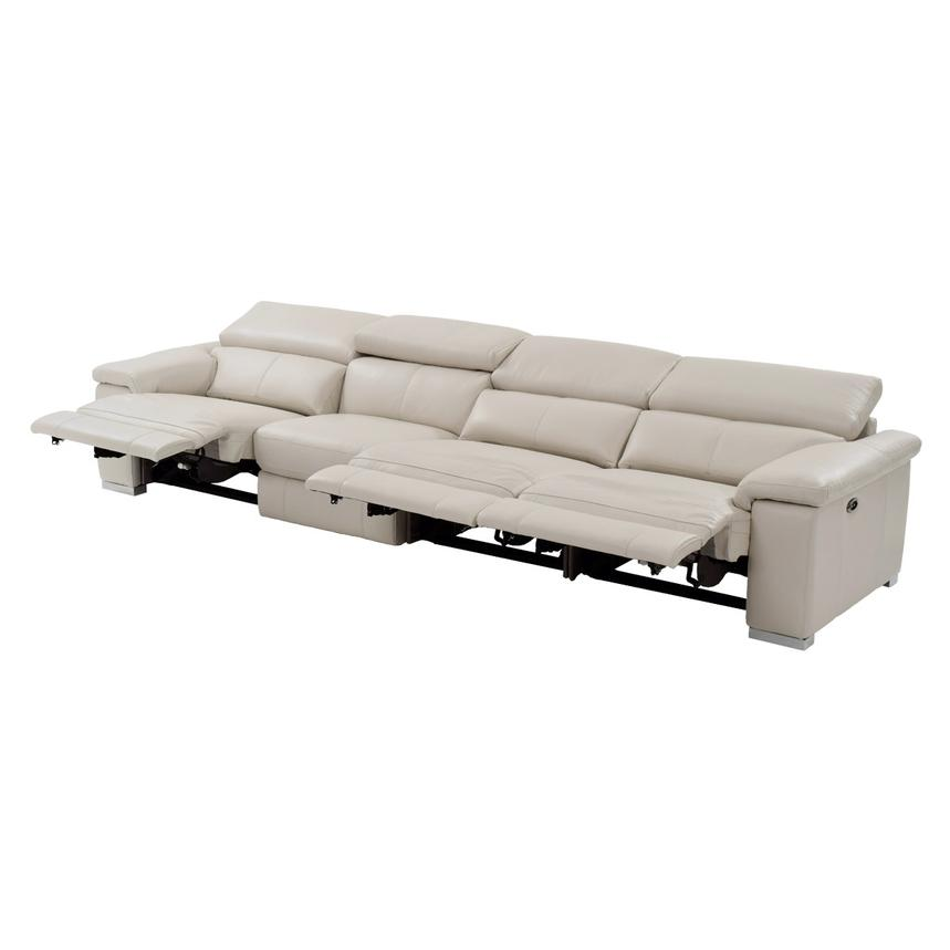 Nathan Cream Oversized Leather Sofa  alternate image, 2 of 10 images.