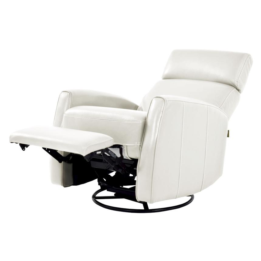 Lucca White Leather Power Recliner  alternate image, 2 of 8 images.