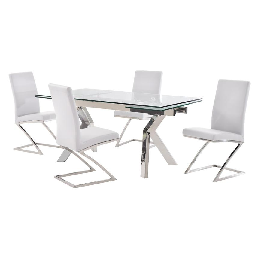Lynne Clear/Jade White 5-Piece Dining Set  main image, 1 of 12 images.