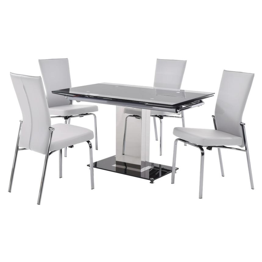 Antonia White 5-Piece Casual Dining Set  main image, 1 of 12 images.