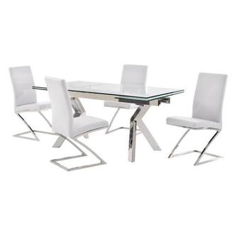Lynne Clear/Jade White 5-Piece Dining Set