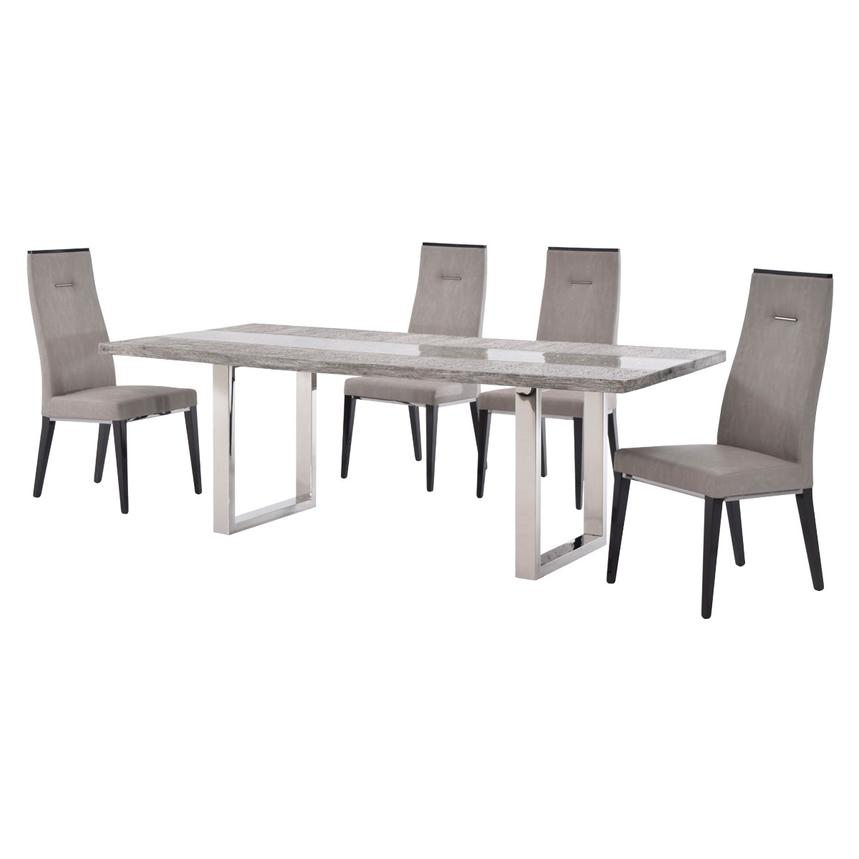 Skyscraper/Heritage 5-Piece Formal Dining Set  alternate image, 2 of 12 images.