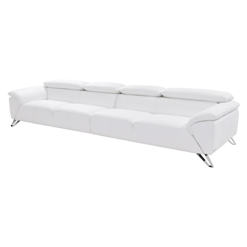 Tesla White Oversized Leather Sofa  main image, 1 of 8 images.