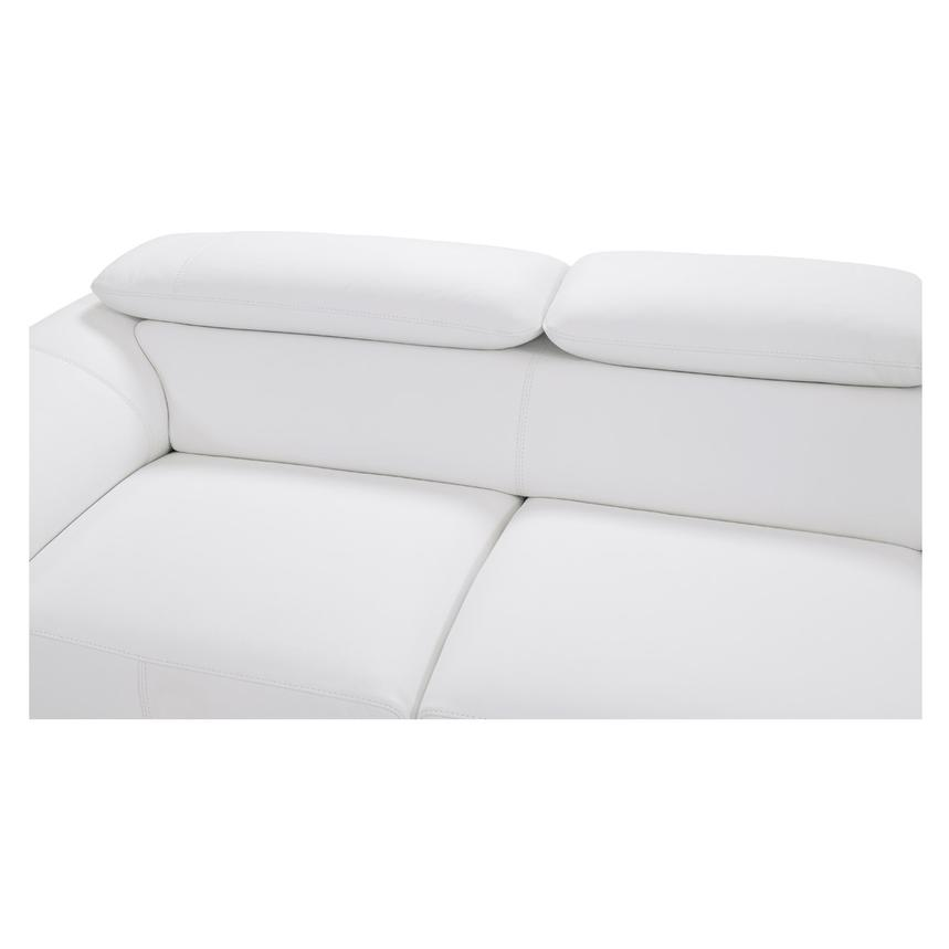 Tesla White Oversized Leather Sofa  alternate image, 6 of 8 images.