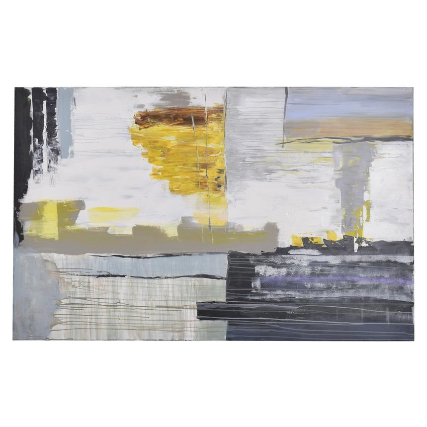 Yellow Abstract Canvas Wall Art   El Dorado Furniture