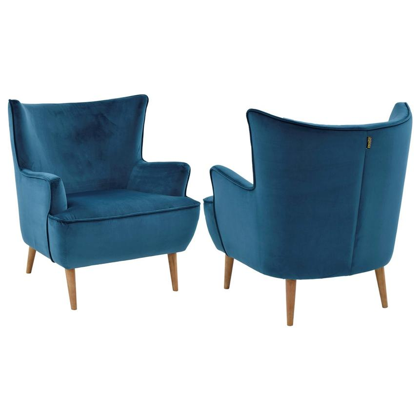 Zita Blue Accent Chair  alternate image, 2 of 6 images.