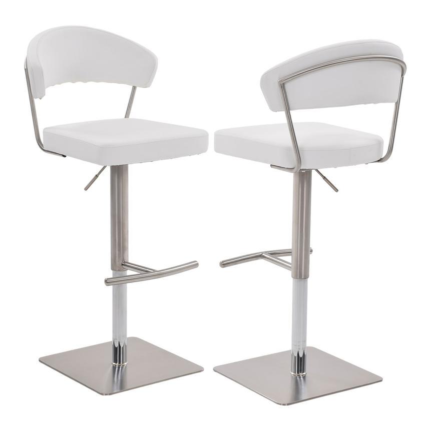Bold White Adjustable Stool El Dorado Furniture