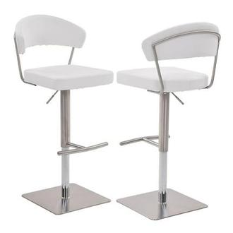 Bold White Adjustable Stool