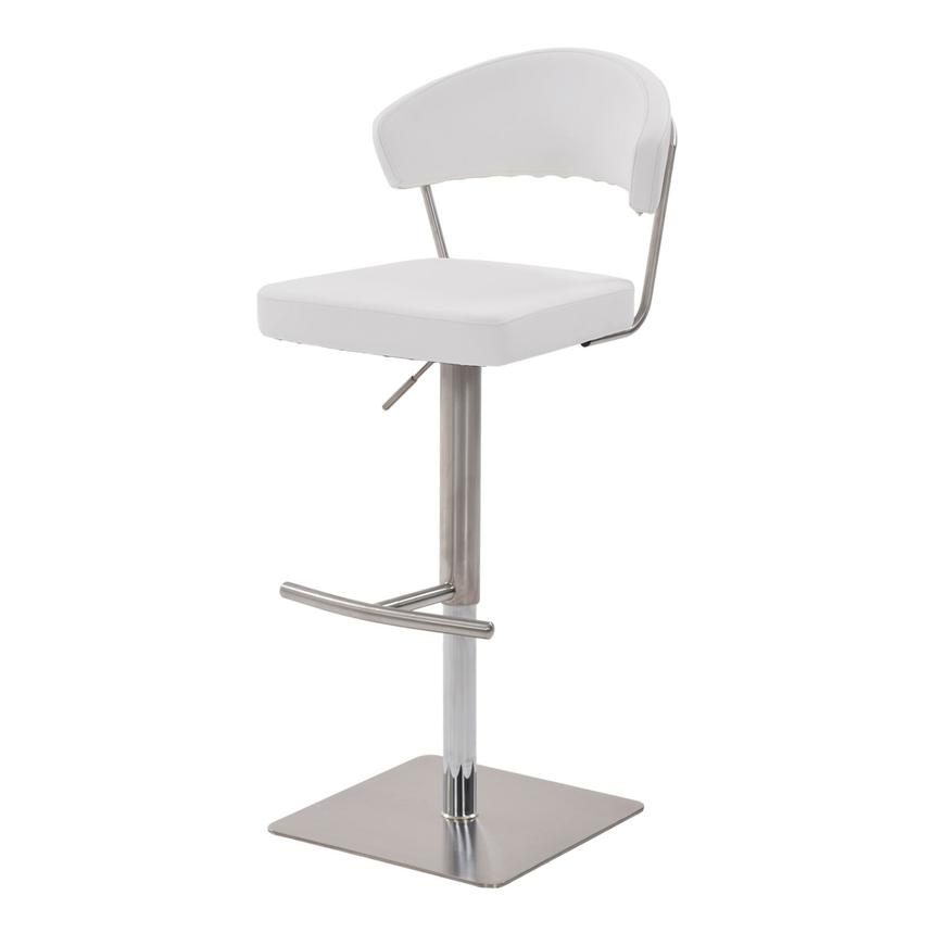 Bold White Adjustable Stool  alternate image, 2 of 6 images.