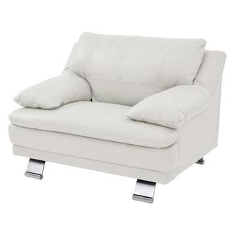Rio White Leather Chair