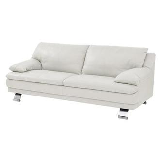 Rio White Leather Sofa