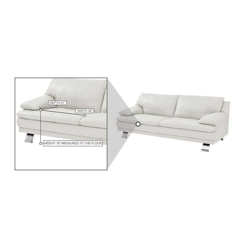 Rio White Leather Sofa  alternate image, 7 of 7 images.