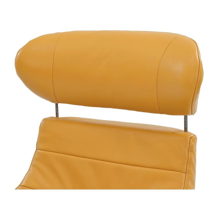 Enzo Yellow Leather Swivel Chair  alternate image, 6 of 9 images.