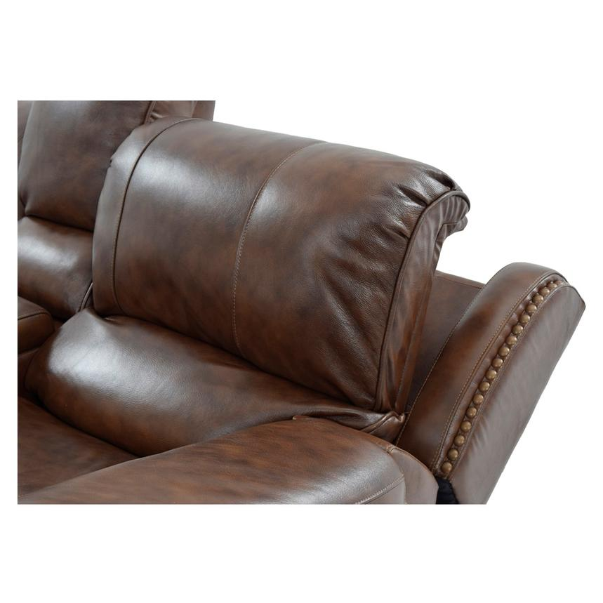 Durham Power Motion Leather Sofa w/Console  alternate image, 7 of 12 images.