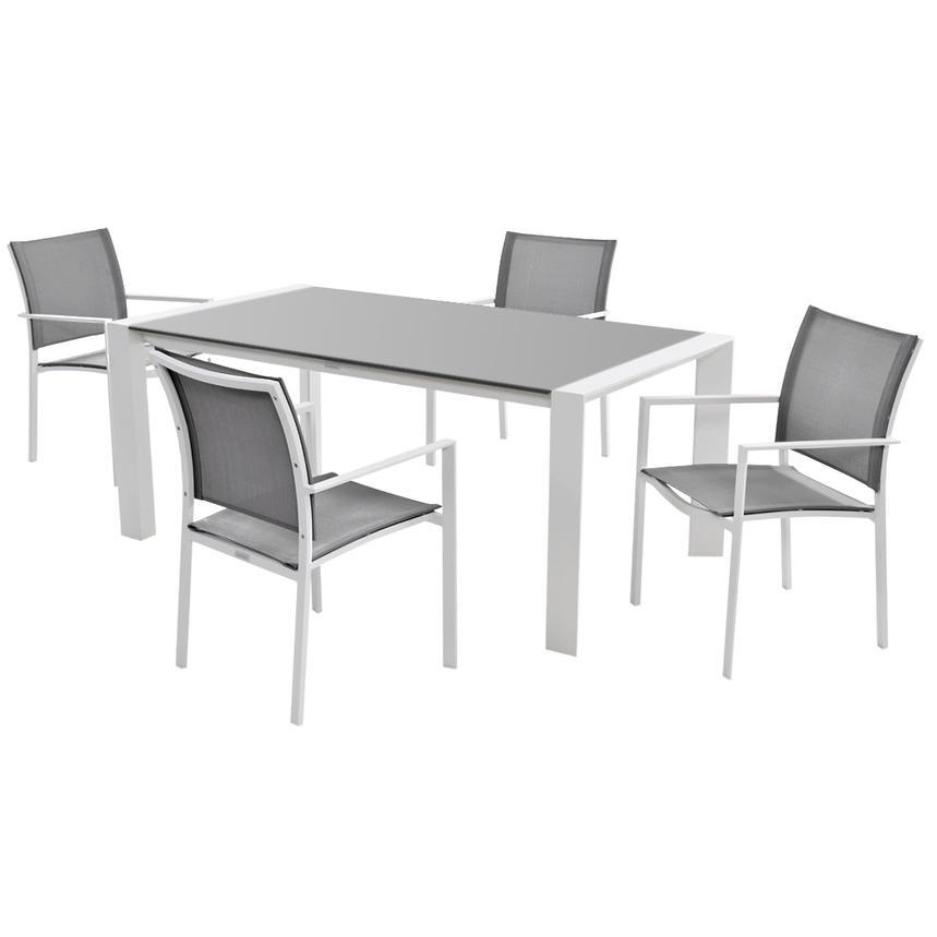 Mykonos Gray 5 Piece Patio Set El Dorado Furniture