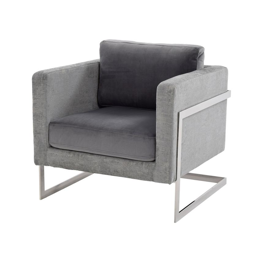 Sensational Emma Gray Accent Chair Ibusinesslaw Wood Chair Design Ideas Ibusinesslaworg
