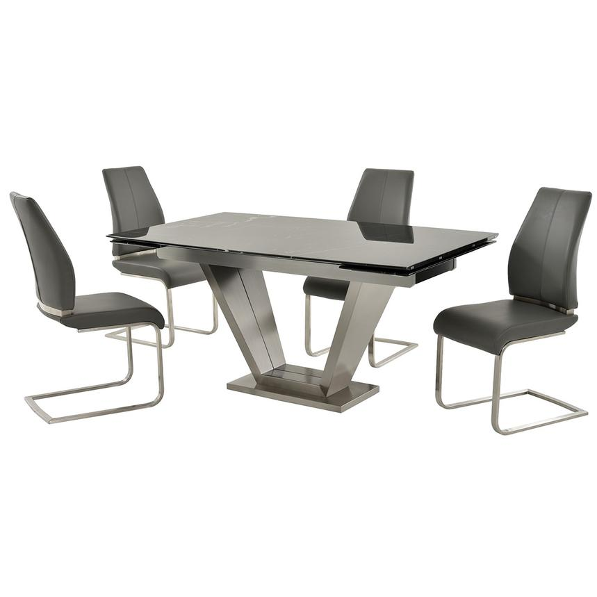 Jessy/Maday Gray 5-Piece Formal Dining Set  main image, 1 of 12 images.