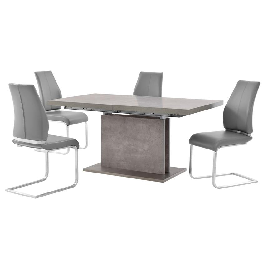 Kalinda/Maday Gray 5-Piece Formal Dining Set  main image, 1 of 11 images.