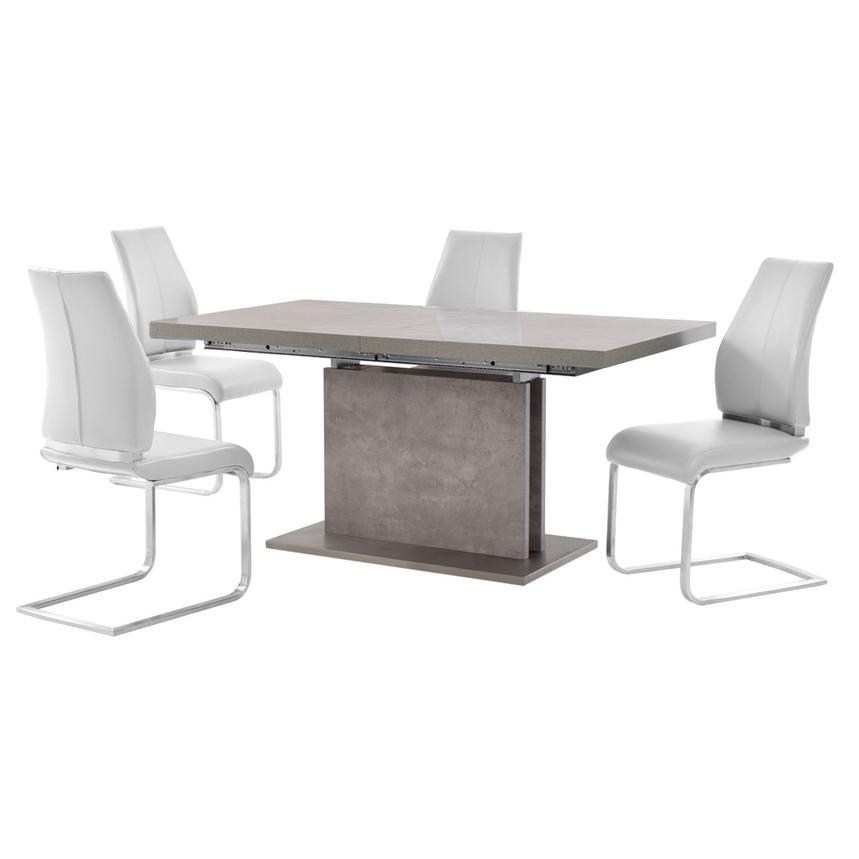 Kalinda/Maday White 5-Piece Dining Set  main image, 1 of 11 images.