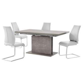 lila white 5 piece casual dining set el dorado furniture. Black Bedroom Furniture Sets. Home Design Ideas