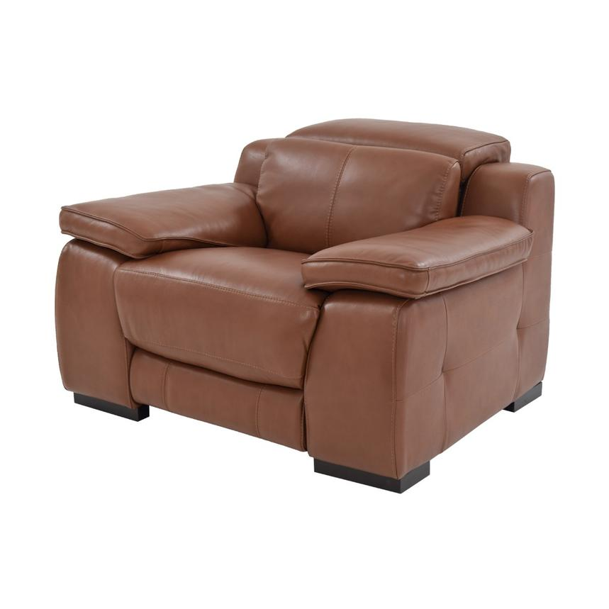 Gian Marco Tan Power Motion Leather Recliner  main image, 1 of 8 images.