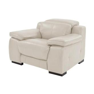 Gian Marco Cream Power Motion Leather Recliner