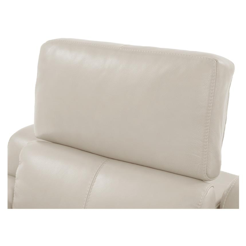 Gian Marco Cream Power Motion Leather Recliner  alternate image, 6 of 8 images.