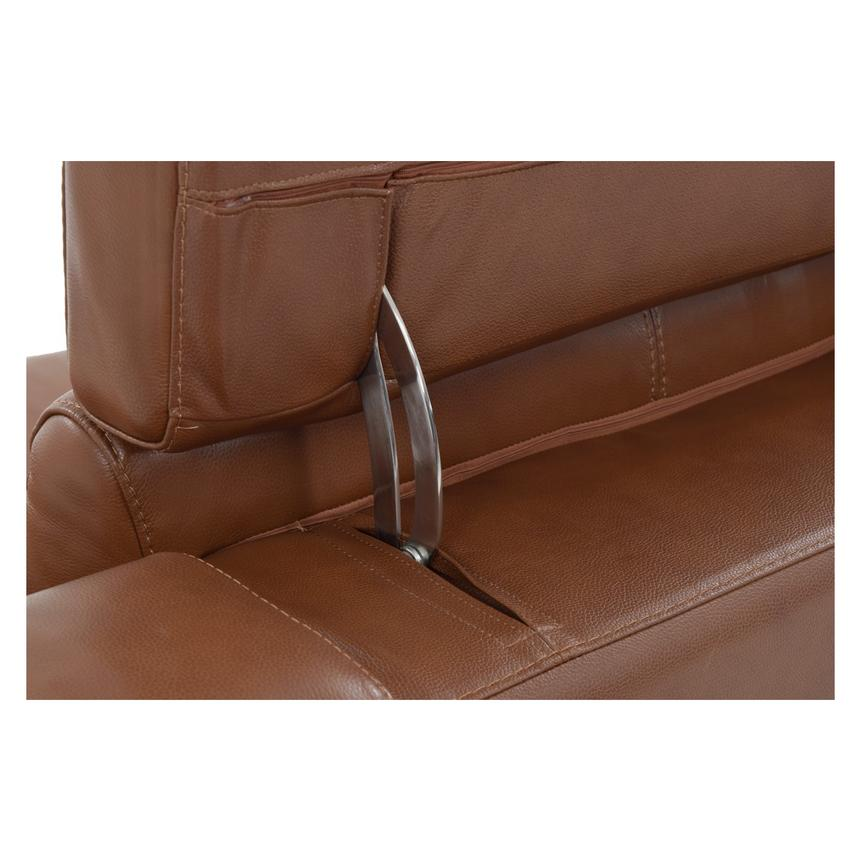Gian Marco Tan Power Motion Leather Loveseat  alternate image, 7 of 8 images.