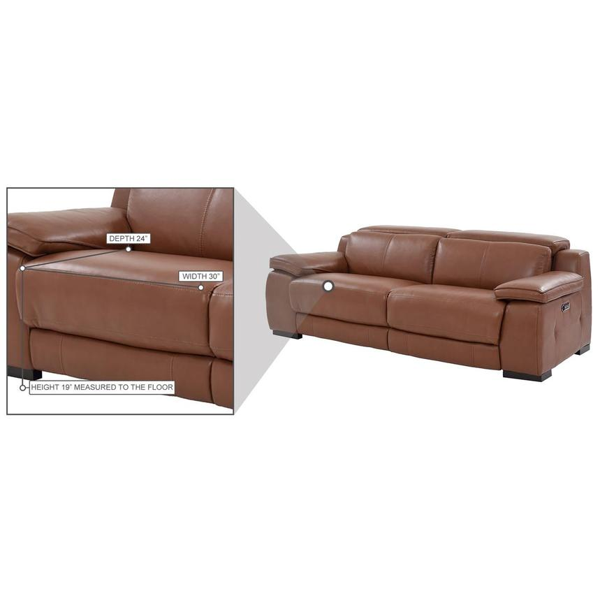 Gian Marco Tan Leather Power Reclining Sofa  alternate image, 10 of 10 images.