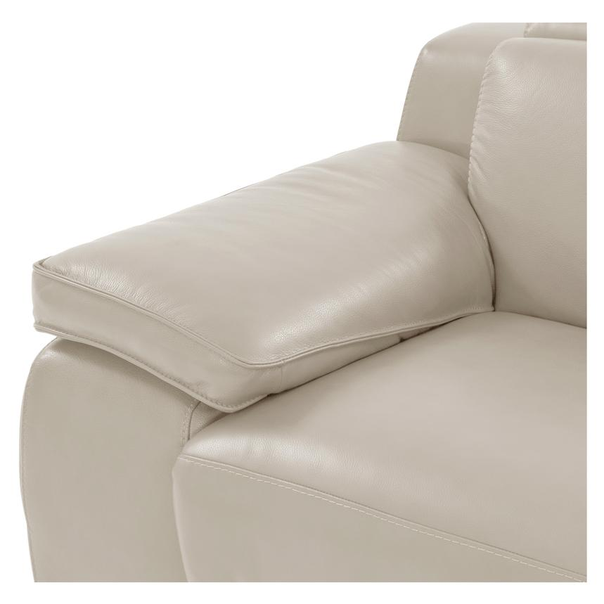Gian Marco Cream Leather Power Reclining Loveseat  alternate image, 6 of 10 images.