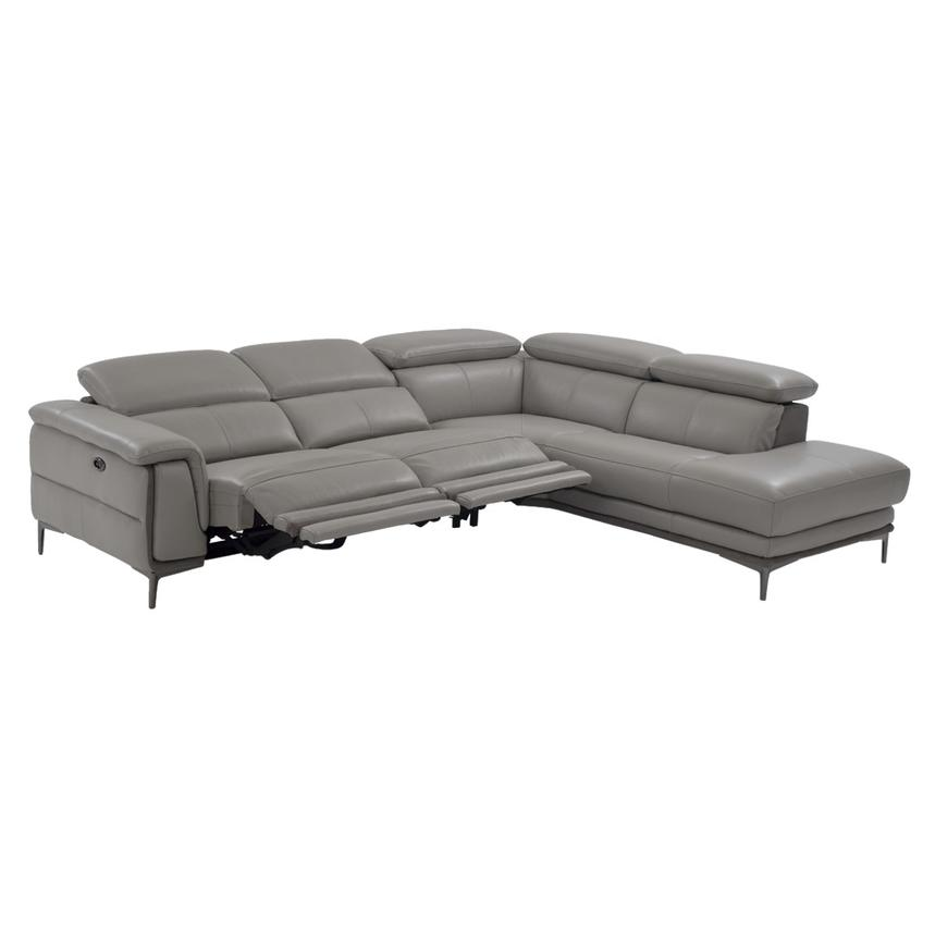 Richardson Power Motion Leather Sofa w/Right Chaise  alternate image, 2 of 8 images.