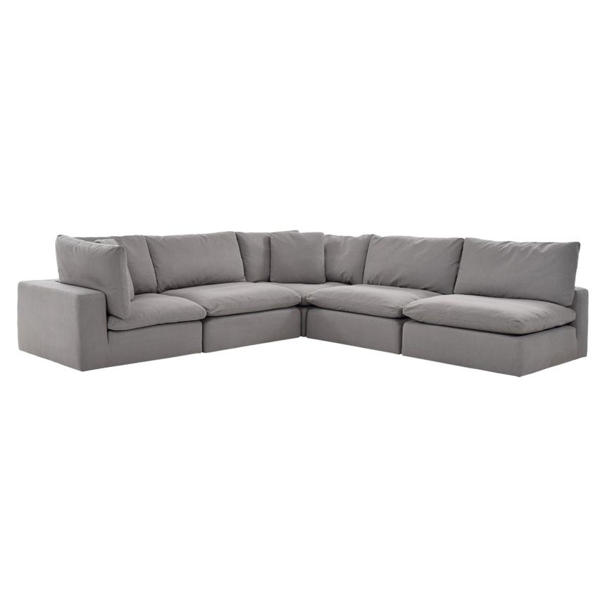 Nube II Gray Sectional Sofa  main image, 1 of 7 images.