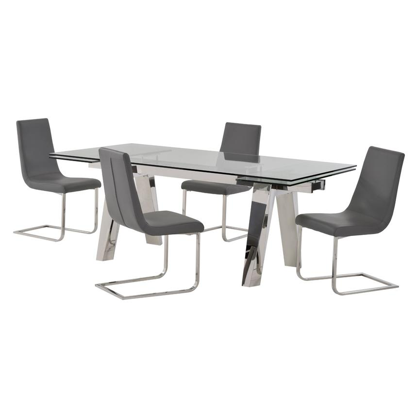 Madox/Lea Gray 5-Piece Dining Set  main image, 1 of 12 images.