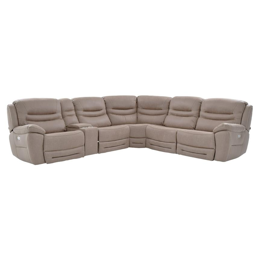 Dan Light Gray Power Motion Sofa w/Right & Left Recliners  main image, 1 of 9 images.