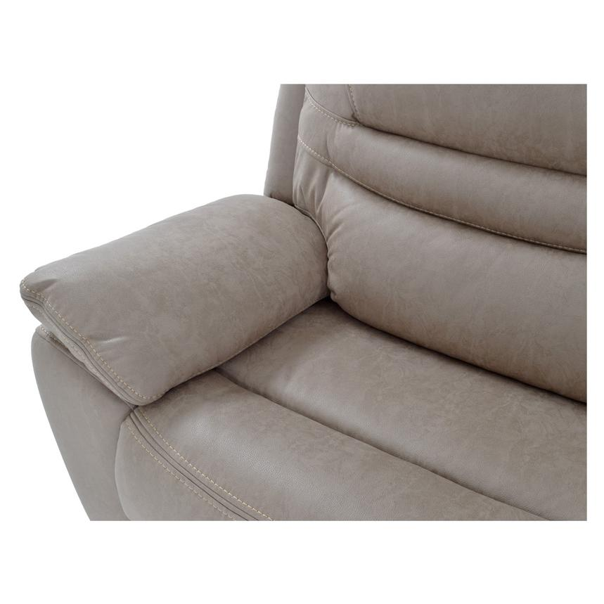 Dan Light Gray Power Motion Sofa w/Right & Left Recliners  alternate image, 6 of 9 images.