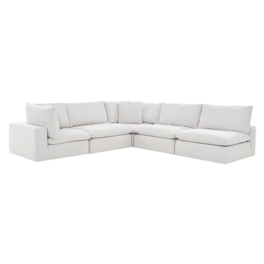 Nube II White Sectional Sofa  main image, 1 of 8 images.