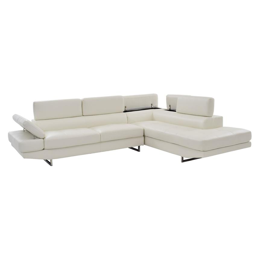Tahoe II Off White Sofa w/Right Chaise  alternate image, 2 of 9 images.