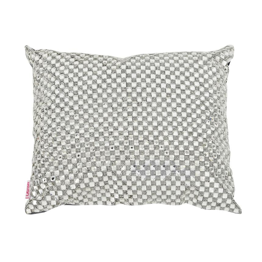 Dolce Silver Accent Pillow El Dorado Furniture