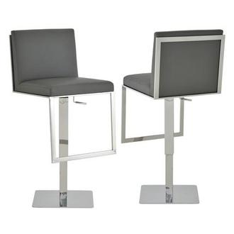 Aventura Gray Adjustable Stool