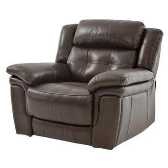 Stallion Brown Leather Power Recliner